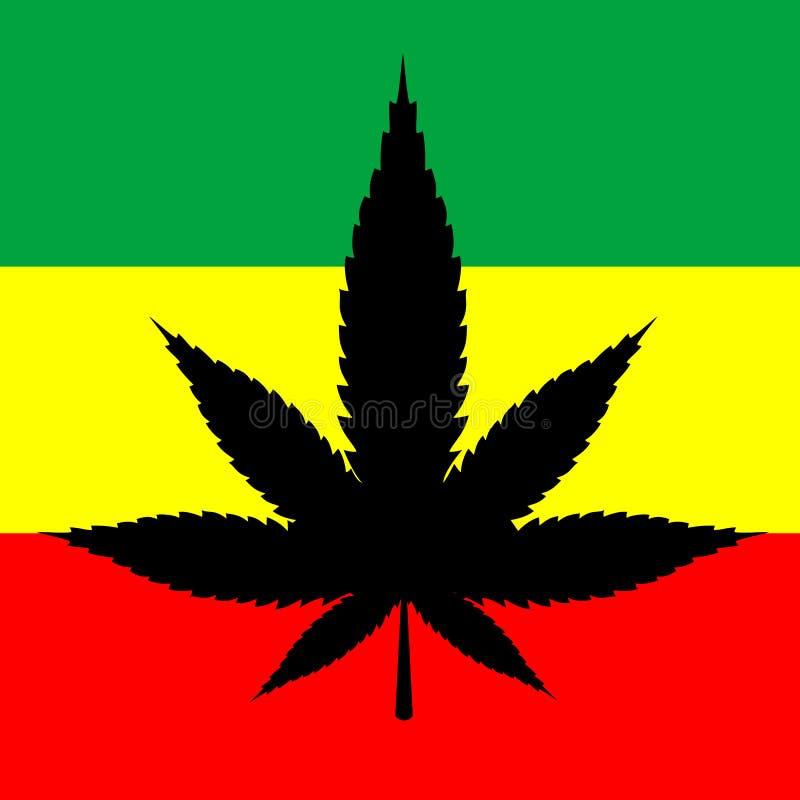 Folha da marijuana ilustração do vetor