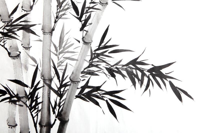 Folha de bambu ilustração royalty free