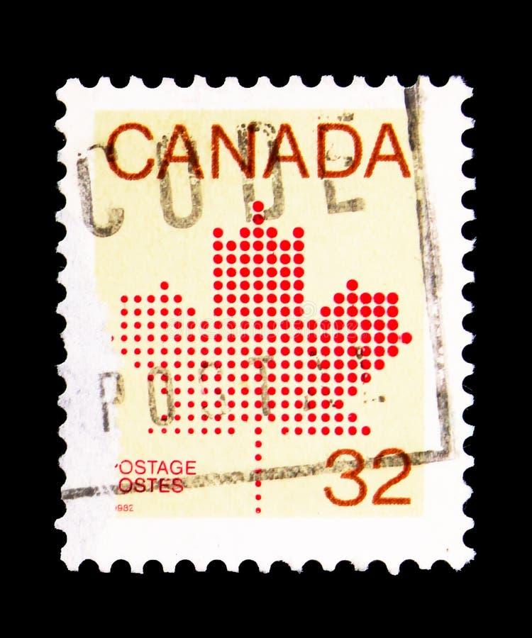 Folha de bordo, Definitives 1981-84 (serie do emblema da folha de bordo), cerca de fotos de stock