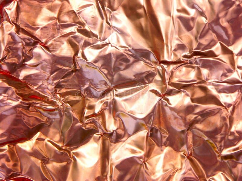 Folha de cobre amarrotada fotos de stock