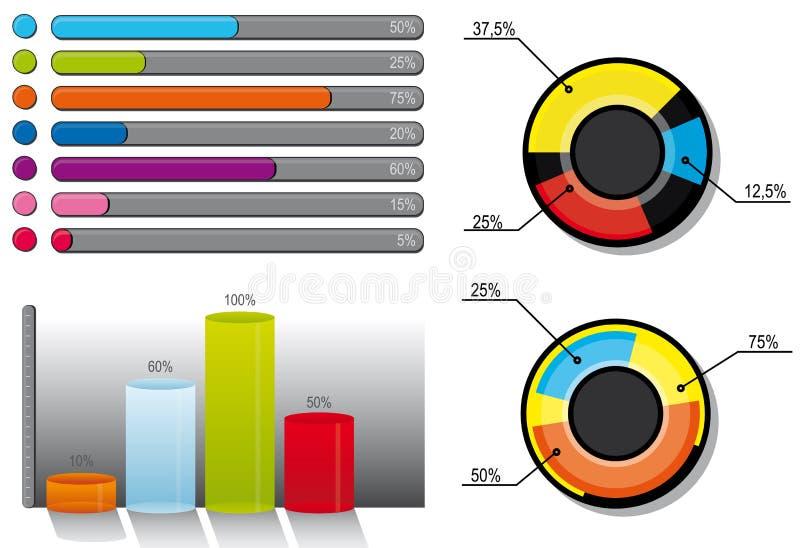 Folha de dados ilustração stock