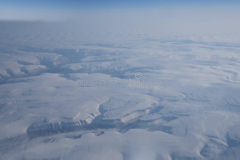 Folha de gelo Siberian vista de cima de imagem de stock