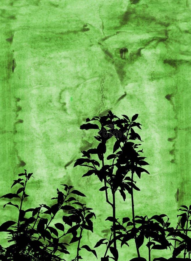 Folha de Grunge ilustração do vetor