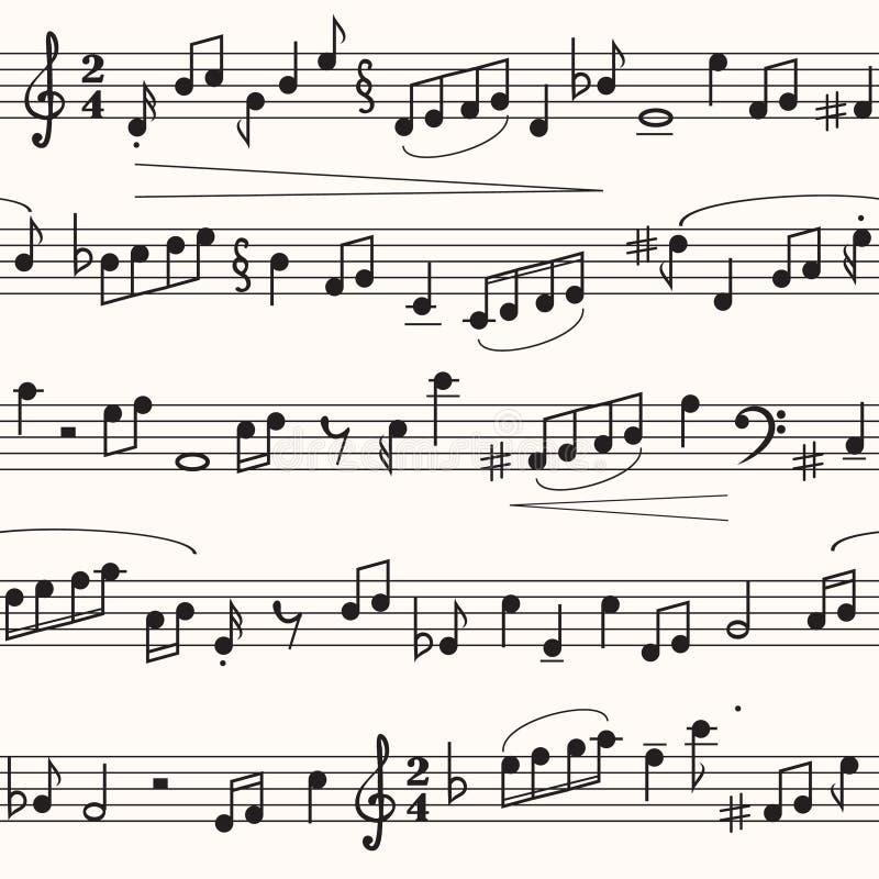 Folha de música ilustração do vetor