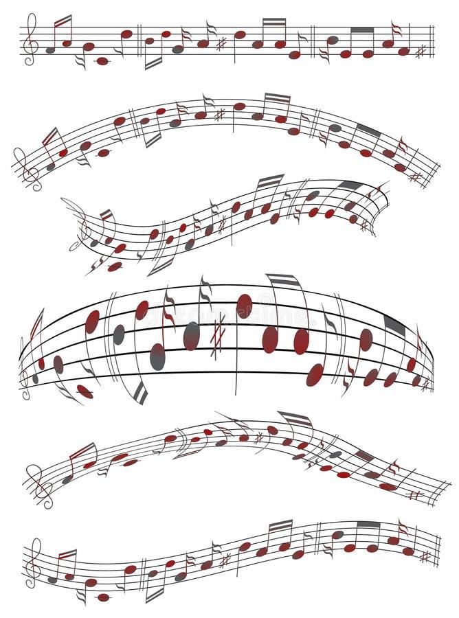 Folha de música ilustração stock