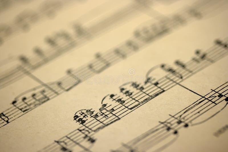 Folha de música velha fotografia de stock