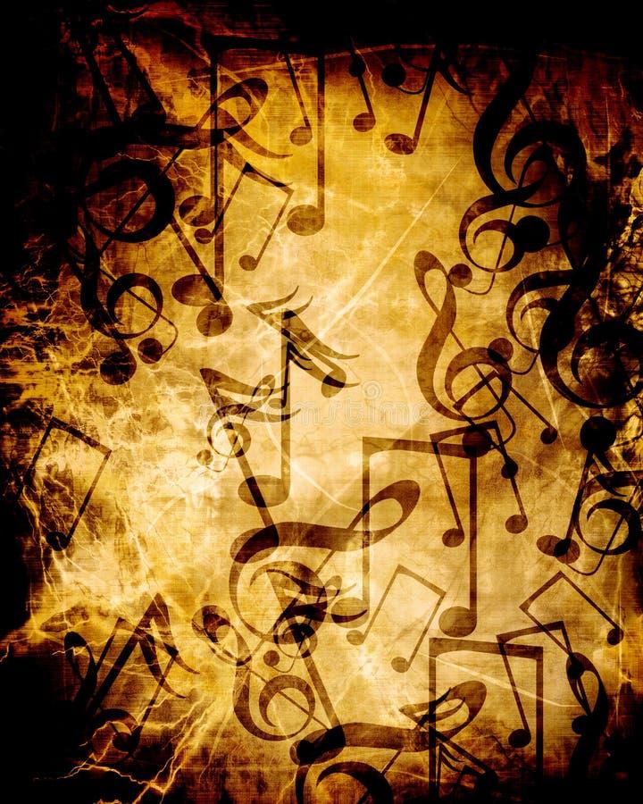 Folha de música velha ilustração stock