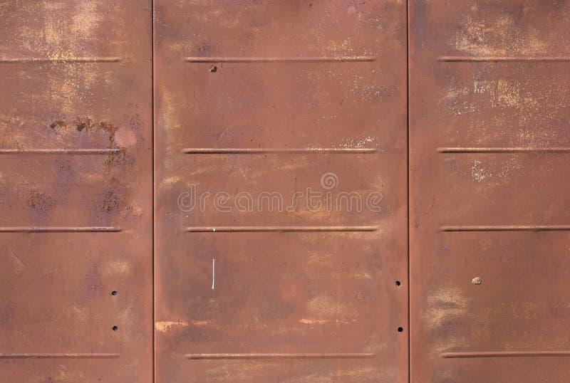 Folha de metal oxidada Fundo imagens de stock royalty free