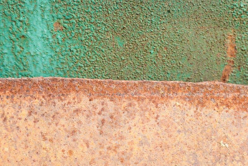 Folha de metal oxidada, uso velho da textura do metal do grunge para o fundo, textura industrial para o fundo abstrato Oxida??o d fotografia de stock