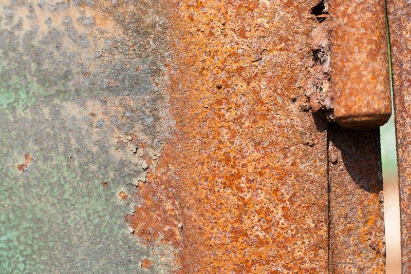 Folha de metal oxidada, uso velho da textura do metal do grunge para o fundo, textura industrial para o fundo abstrato Oxida??o d imagem de stock royalty free