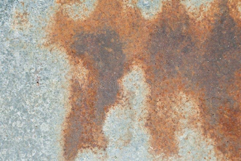 Folha de metal oxidada, uso velho da textura do metal do grunge para o fundo, textura industrial para o fundo abstrato Oxida??o d fotografia de stock royalty free