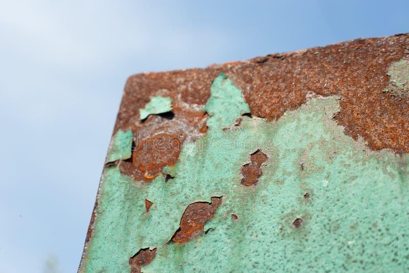 Folha de metal oxidada, uso velho da textura do metal do grunge para o fundo, textura industrial para o fundo abstrato Oxida??o d fotos de stock