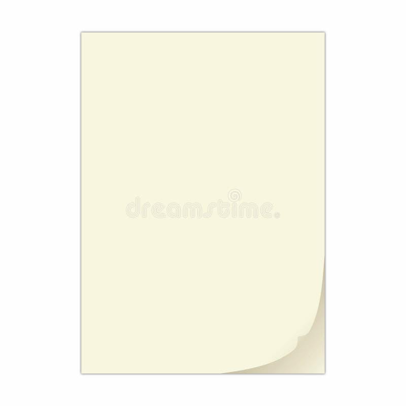 Folha de papel ilustração stock