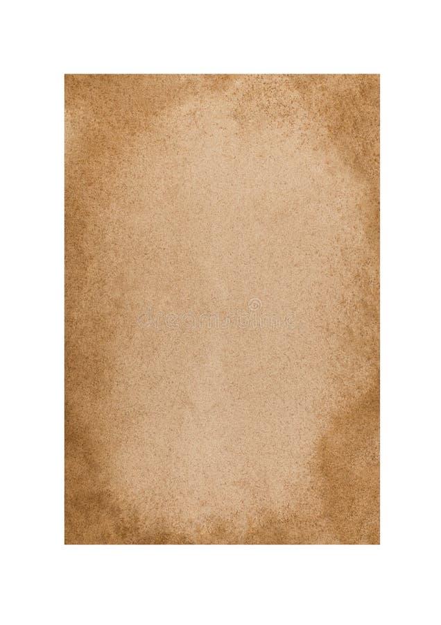 Folha de papel amarelada velha imagem de stock