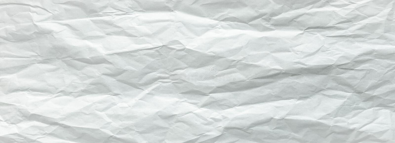 Folha de papel branca dobrada Folha de papel branca esmagada e dobrada Papel de nota Papel enrugado imagens de stock