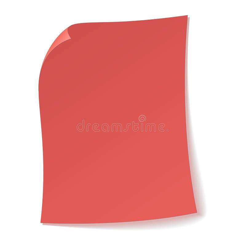 Folha de papel cor-de-rosa o ícone ilustração do vetor
