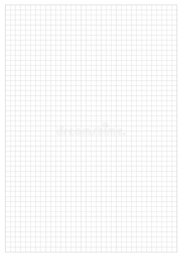 Folha de papel da grade ilustração do vetor