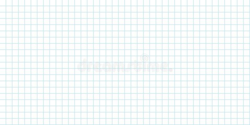 Folha de papel da grade fundo sem emenda alinhada ilustração do vetor