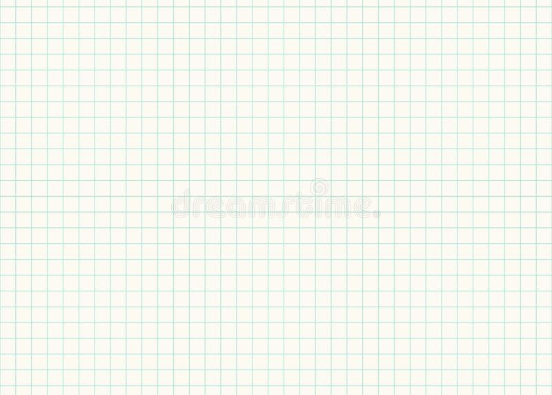 Folha de papel da grade fundo sem emenda alinhada para a cópia ou o projeto para de volta ao feriado de escola, ilustração do vet ilustração royalty free