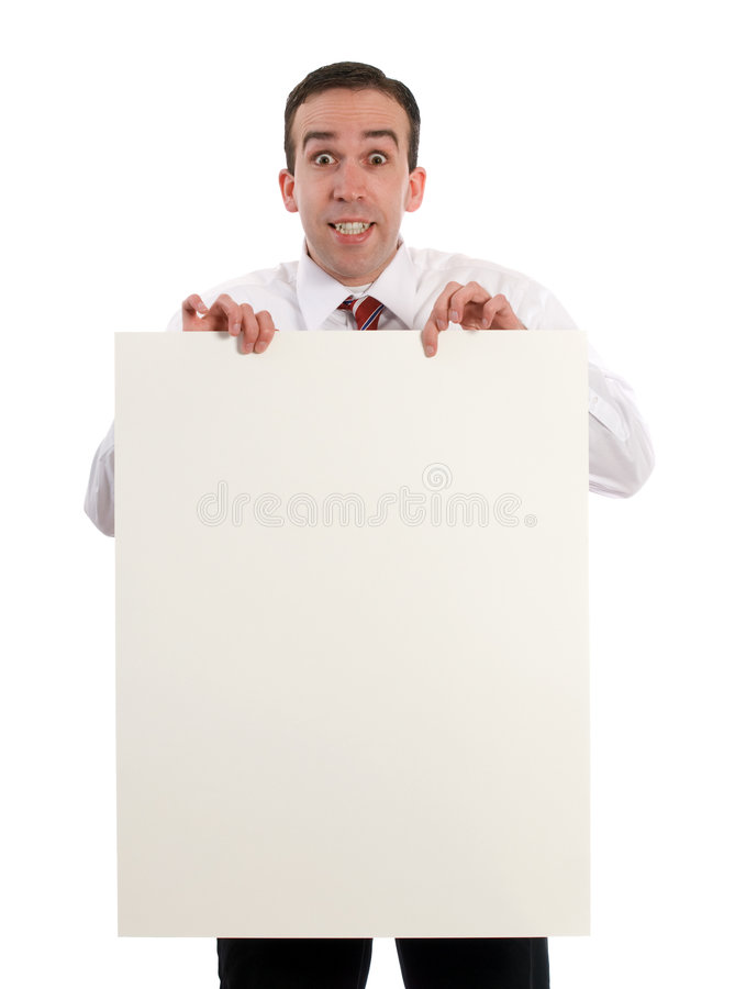 Folha de papel da terra arrendada do homem fotos de stock