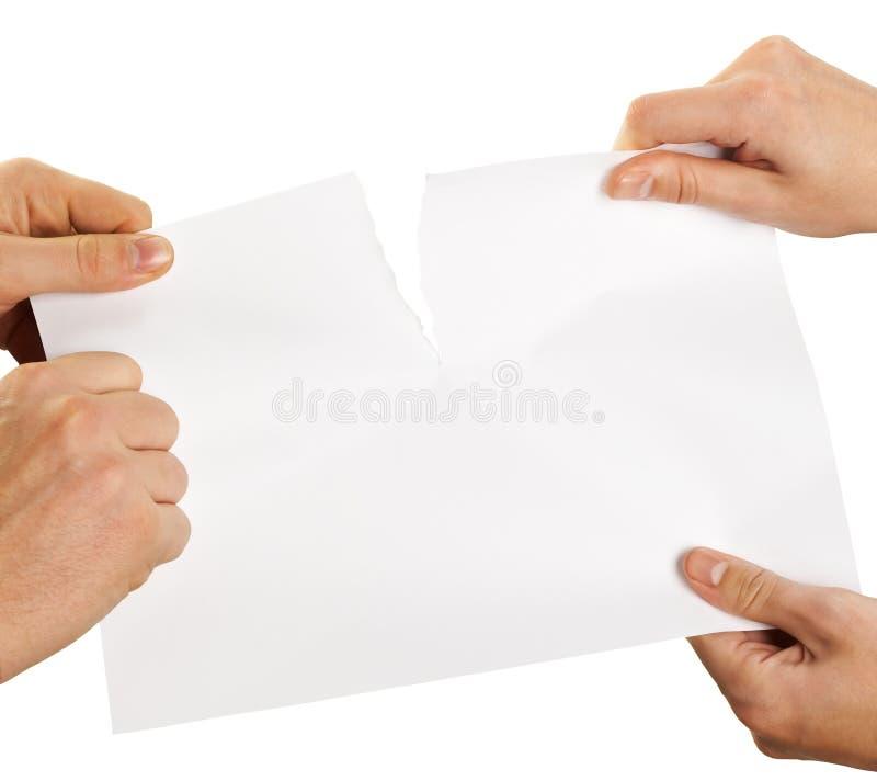 Folha de papel de rasgo fotos de stock royalty free