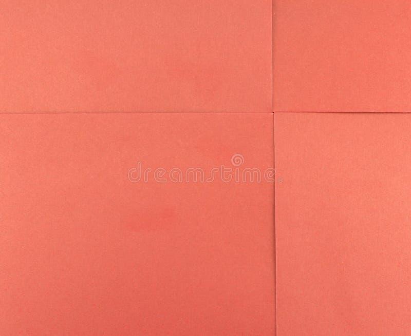 Folha de papel do quadrado vermelho fotos de stock royalty free