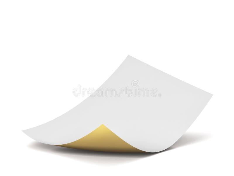 Folha de papel em branco ilustração royalty free