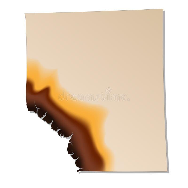 Folha de papel queimada o ícone ilustração royalty free
