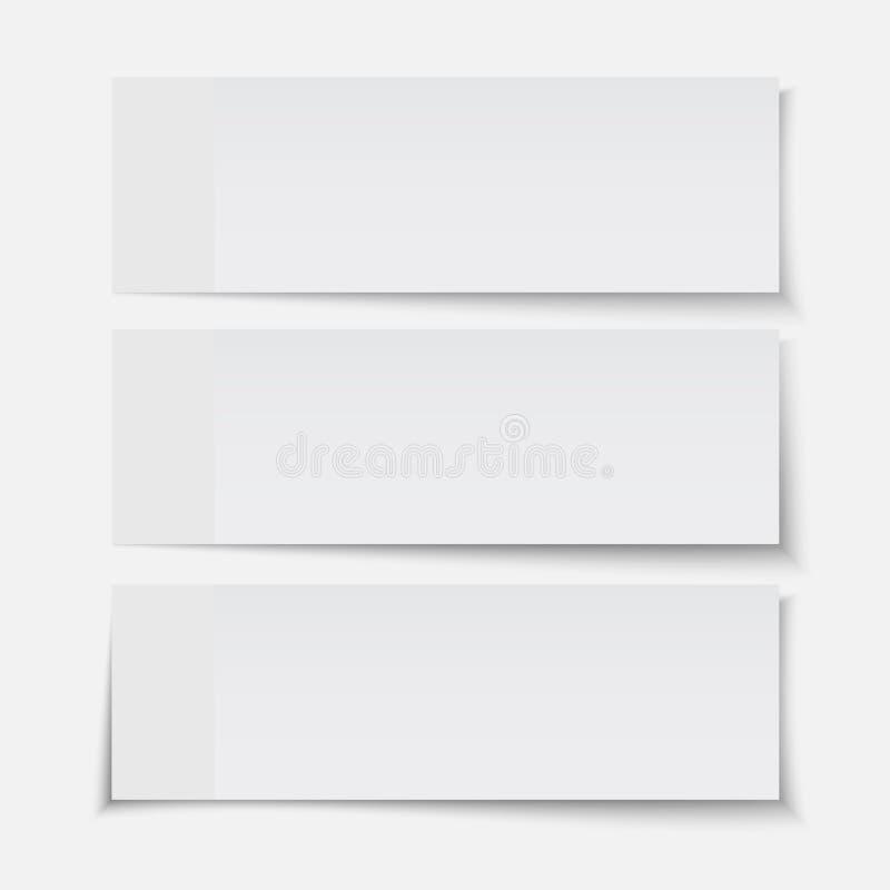 Folha de papel realística ajustada do vetor ilustração do vetor