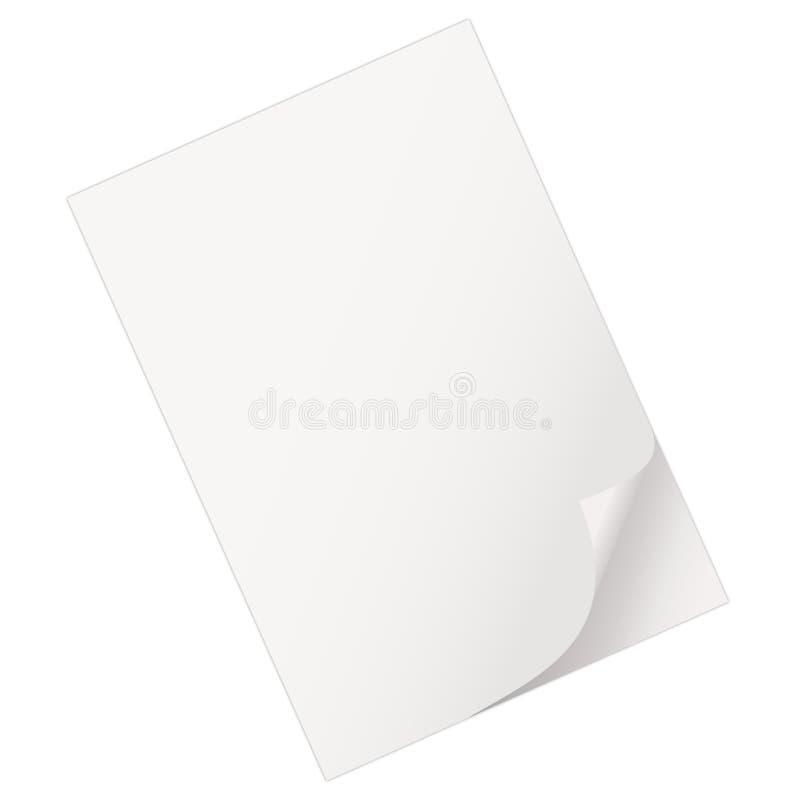 Folha de papel vazia ilustração do vetor