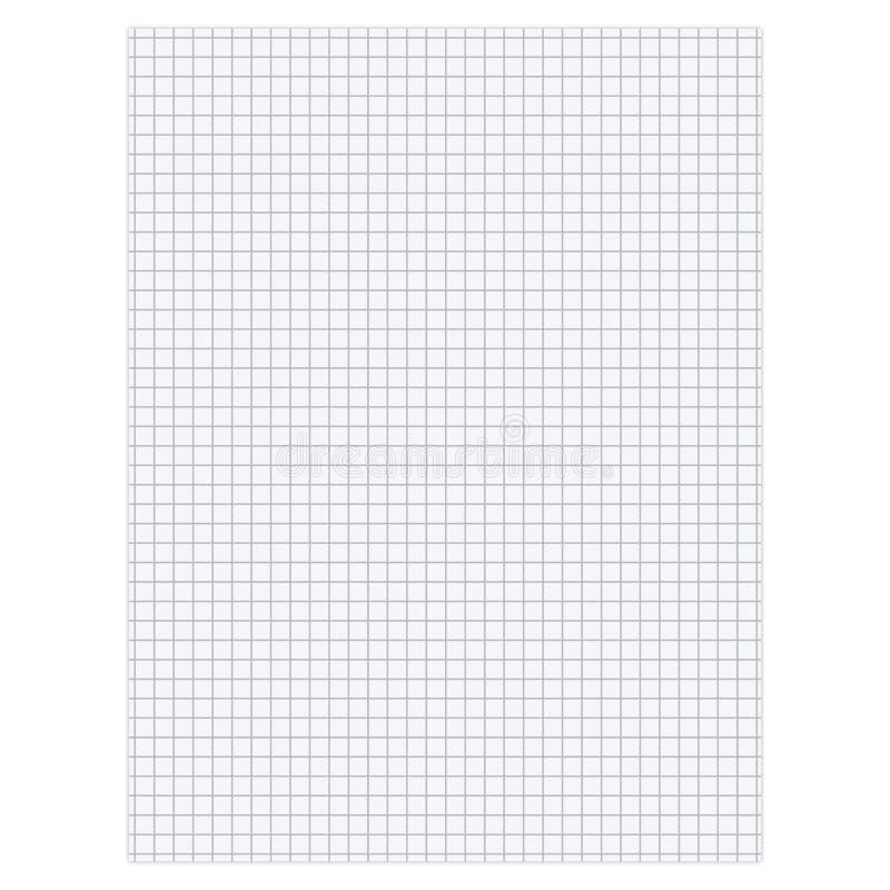 Folha de papel vazia ilustração stock