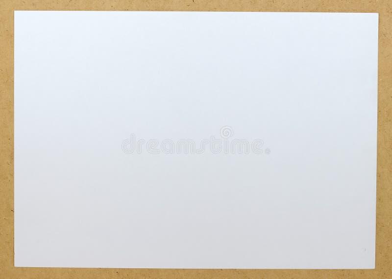 Folha de papel vazia fotografia de stock