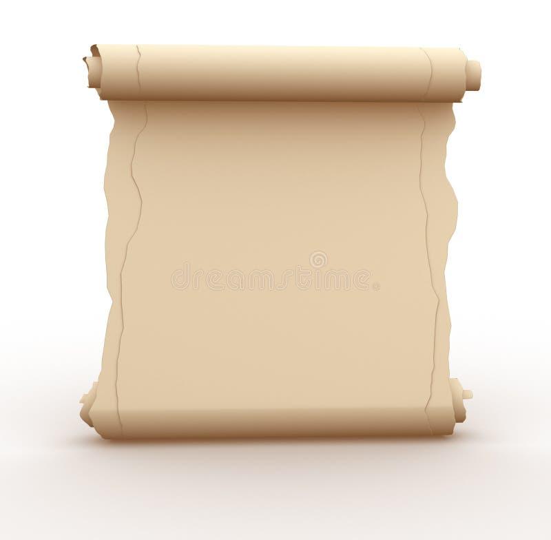 Folha de papel velha ilustração do vetor
