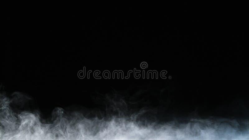 Folha de prova realística da névoa das nuvens de fumo do gelo seco imagens de stock