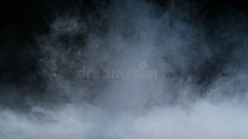 Folha de prova realística da névoa das nuvens de fumo do gelo seco imagem de stock