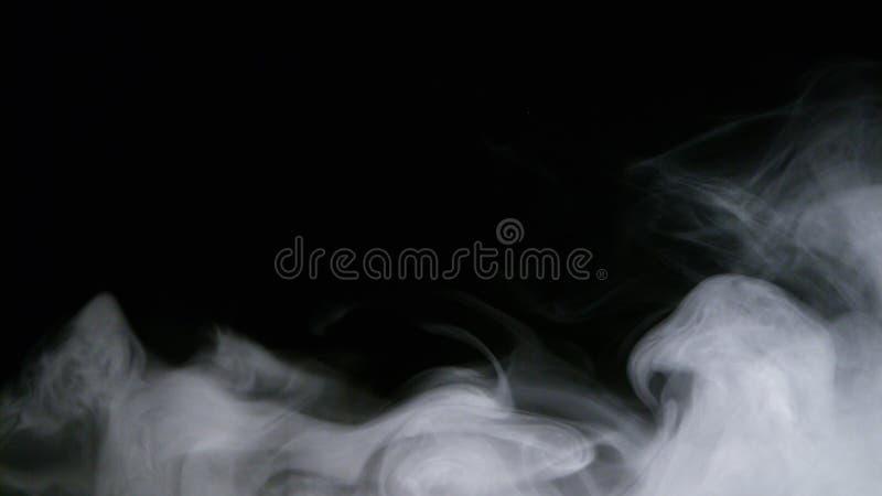 Folha de prova realística da névoa das nuvens de fumo do gelo seco imagem de stock royalty free