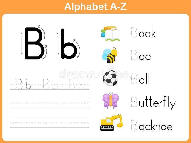 Folha de seguimento do alfabeto ilustração royalty free