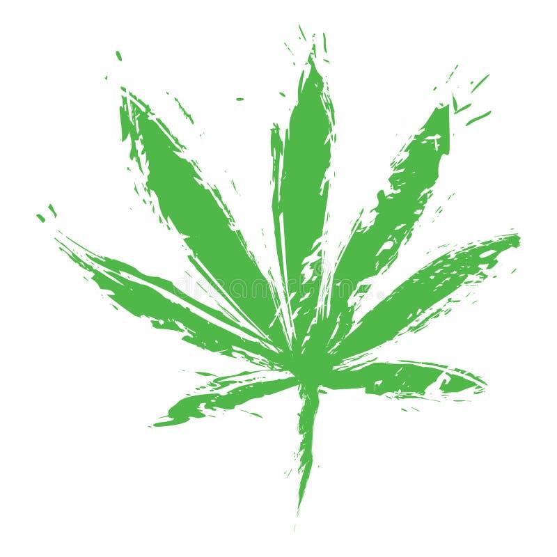 Folha do cannabis ilustração stock
