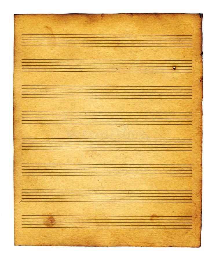 Folha do livro de música ilustração stock