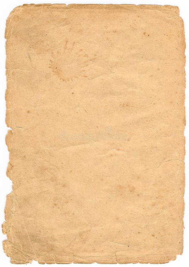 Folha do livro velho fotografia de stock royalty free