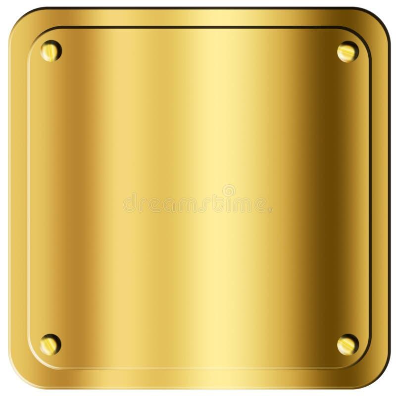 Folha do ouro ilustração do vetor
