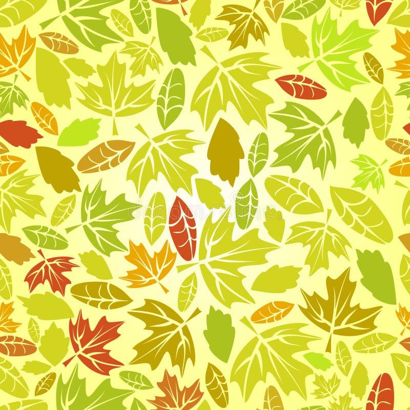 Folha do outono sem emenda ilustração stock