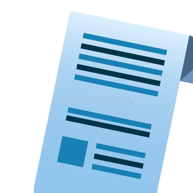 Folha do papel do documento ilustração do vetor