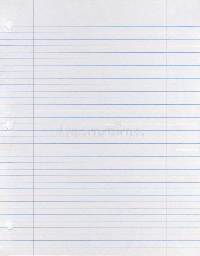 Folha do papel looseleaf imagens de stock royalty free
