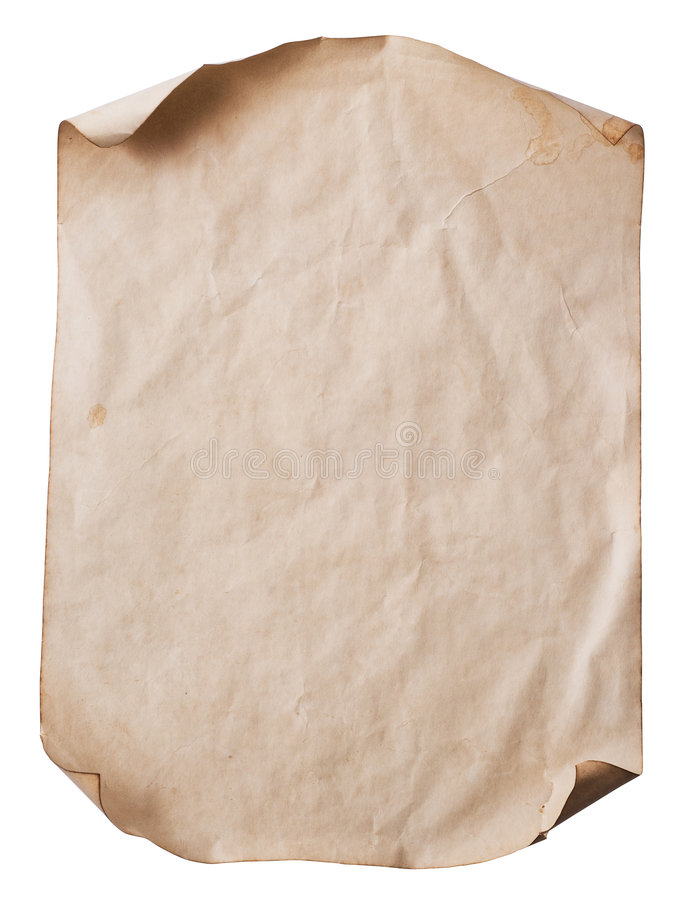 Folha do papel velho imagem de stock