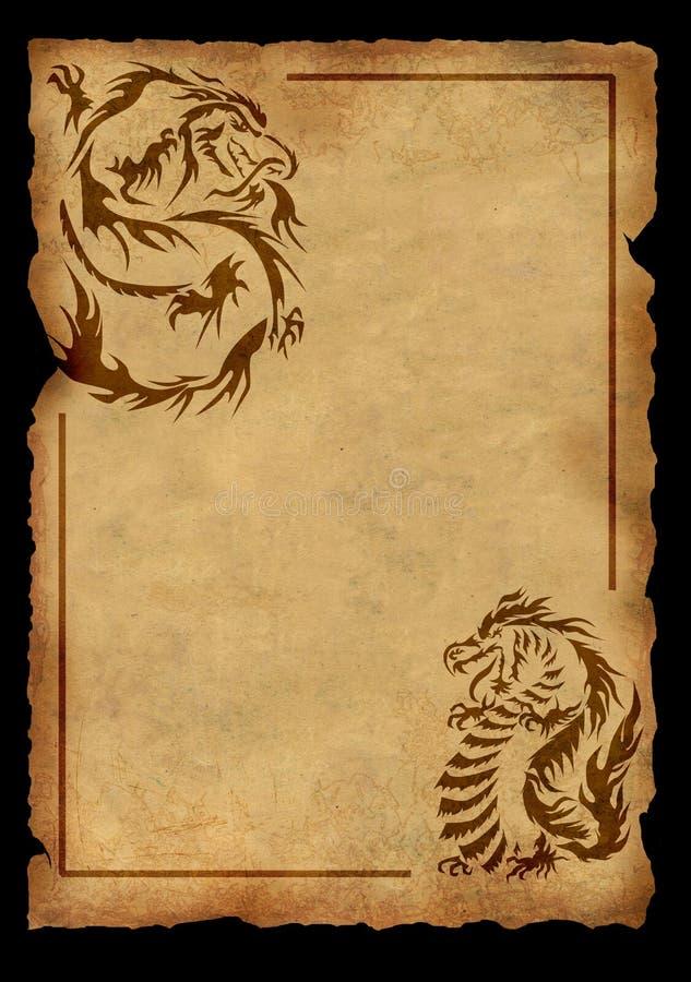 Folha do pergaminho antigo ilustração royalty free