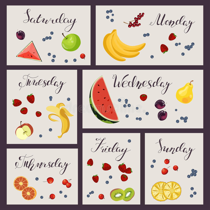 Folha do plano da dieta ilustração stock