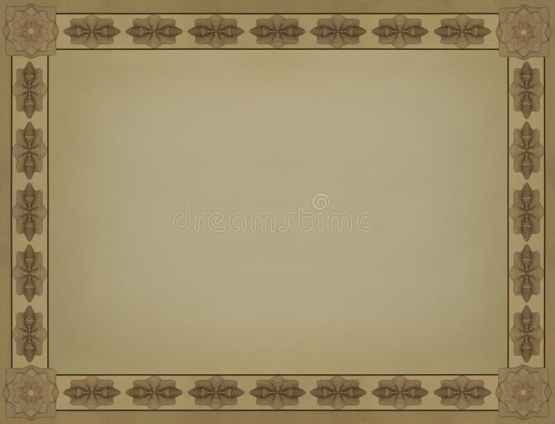 Folha do quadro do vintage do papel lustroso ilustração do vetor