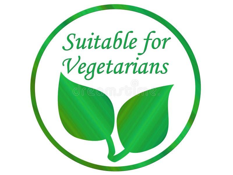 Folha do vegetariano ilustração royalty free