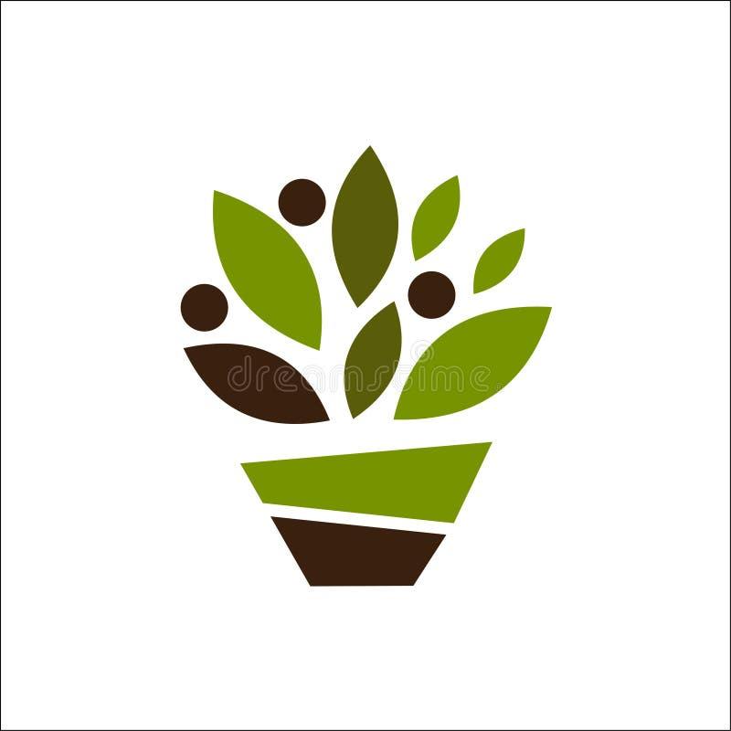 Folha do vetor, ecologia Emblema abstrato, conceito de projeto, logotipo ilustração do vetor